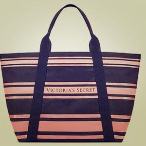 Victoria's Secret sparkle tote bag travel purse VS